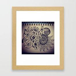 Brat Doll Art - Swirl-n-Whirl Framed Art Print