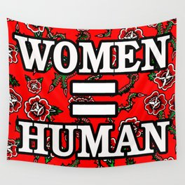NEW+WOMEN=HUMAN Wall Tapestry