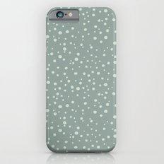 PolkaDots-Mint on Juniper iPhone 6s Slim Case