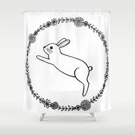 Hopping bunny Shower Curtain