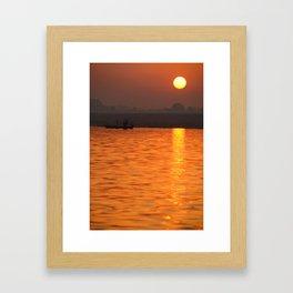 Sunrise on the Ganges Framed Art Print
