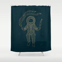 Renaissance Astronaut Shower Curtain