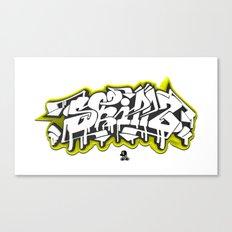 3D GRAFFITI - SKILLZ Canvas Print