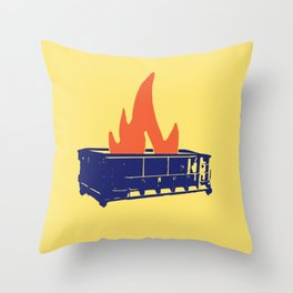 Good Riddance To This Dumpster Fire Of A Year 2017 Throw Pillow
