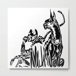Freelancer & his sidekick Metal Print