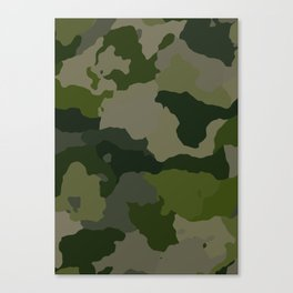 Shades of Green Camo Canvas Print