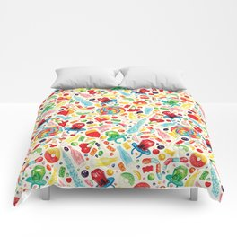 Candy Pattern - White Comforters