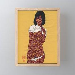 GIRL04 Framed Mini Art Print