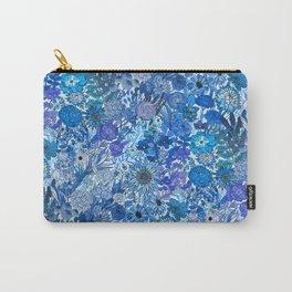 Frozen Blue Garden Carry-All Pouch