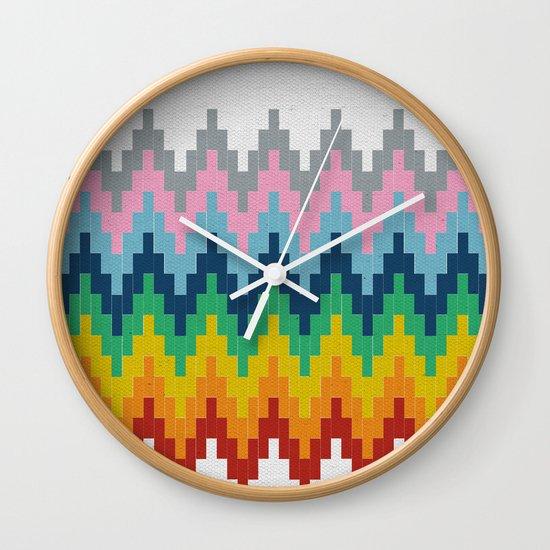 Brick Steps Wall Clock