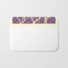 Puce Purple & Cream Trees Abstract SilouetDesign Bath Mat
