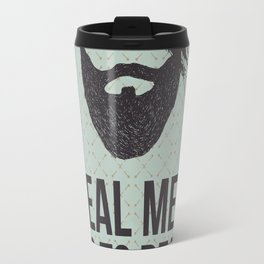 Real men go to real barbers Travel Mug