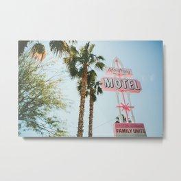 Motel Vintage Sign Metal Print