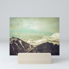 Cloudy Mountains III Mini Art Print