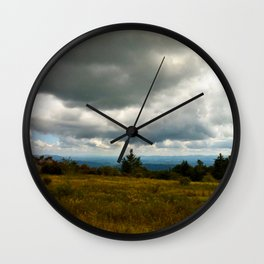 Cloudy Day at Grayson Highlands Wall Clock