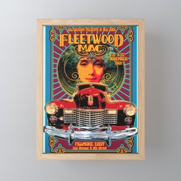 Vintage Music Art - FleetwoodMac In Concert 1969 At Fillmore East 0824 Framed Mini Art Print