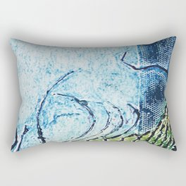 gravura colagraf landscape 01 Rectangular Pillow