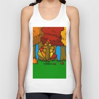 thanksgiving Tank Tops featuring Happy Thanksgiving! by Veronica Nagorny