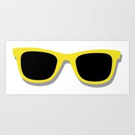 Cool Yellow Sunglasses Art Print