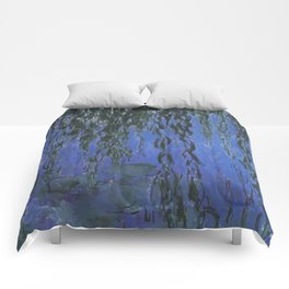 Water Lilies and Weeping Willow Branches by Claude Monet Comforters