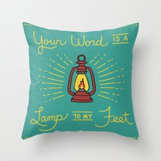 Your Word Is A Lamp To My Feet Throw Pillow