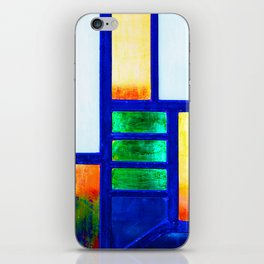 Art Deco Colorful Stained Glass iPhone Skin