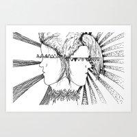 Hippies  Art Print