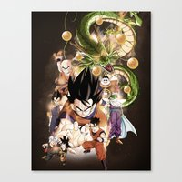 dragonball z Canvas Prints featuring DragonBall Z by Wahid Nawzadi