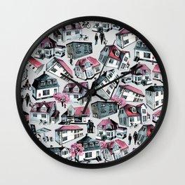 Danish small town pattern Wall Clock