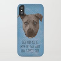 pit bull iPhone & iPod Cases featuring Pit Bull Print by Roxy Makes Things
