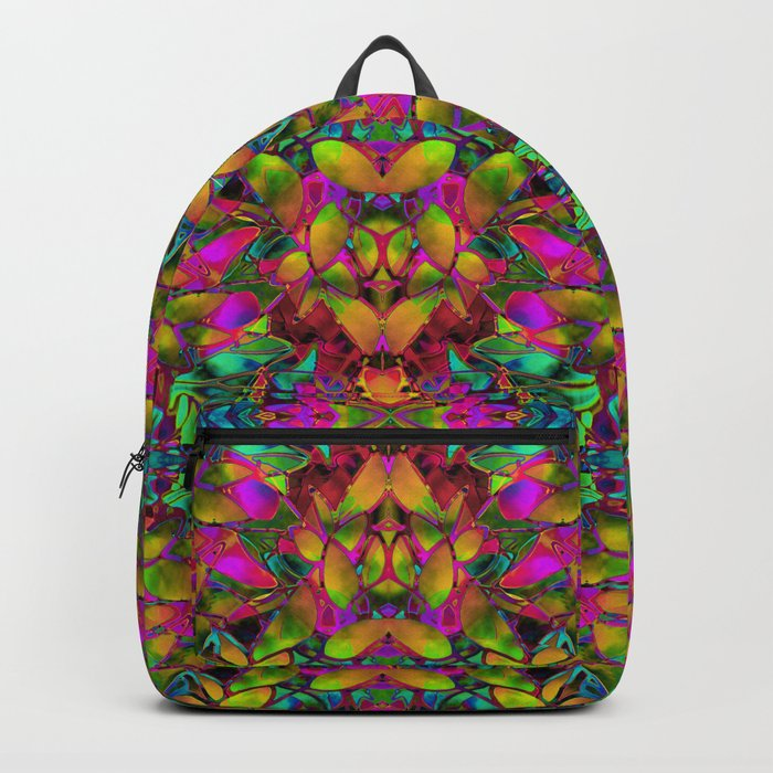 Fractal Floral Abstract G285 Backpack