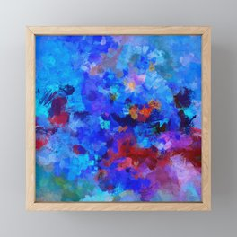 Abstract Seascape Painting Framed Mini Art Print