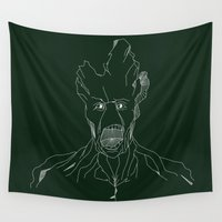groot Wall Tapestries featuring Groot geometric by Myths