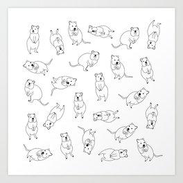 Quokka Buddies Art Print