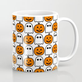 Spooky Halloween Ghosts And Pumpkins Coffee Mug