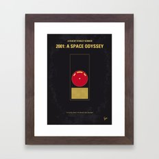 No003 My 2001 A space odyssey 2000 minimal movie poster Framed Art Print
