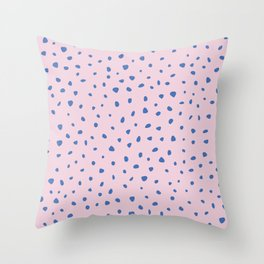 Cheetah winter minimal wild cat spots animal print trend Classic Blue color of the year pink Throw Pillow