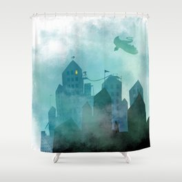 Foggy Night Shower Curtain