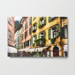 Street Scene in Riva del Garda Metal Print