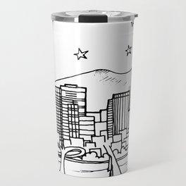 Portland, Oregon City Skyline Illustration Drawing Travel Mug
