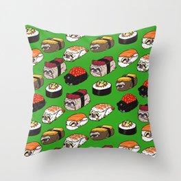 Sushi Sloth Throw Pillow