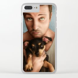 Dan Feuerriegel & Teddy the Puppy Clear iPhone Case