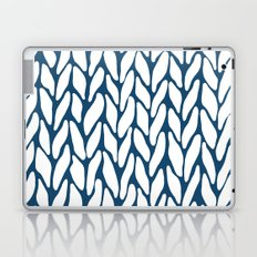Hand Knitted Navy Laptop & iPad Skin