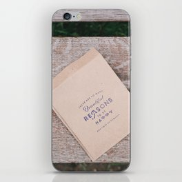 Beautiful Reasons to be Happy Quote iPhone Skin