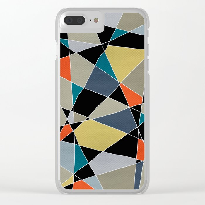 triangles pattern 002 Clear iPhone Case