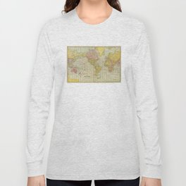 Vintage Map of The World (1909) Long Sleeve T-shirt