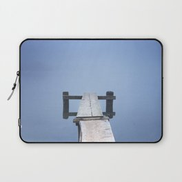 Jetty on Bohinj Lake in Slovenia on a misty morning Laptop Sleeve