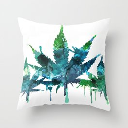 Blue Abstract Mary Jane Throw Pillow