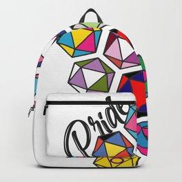 LGBTQ+ Pride Check d20 Gaming Gamer Dice Backpack