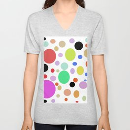 Watercolor abstract colorfull Unisex V-Neck